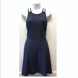 Derek Heart | Blue + White Striped Strappy Dress